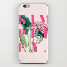 Simplify. #society6 #decor #buyart iPhone & iPod Skin