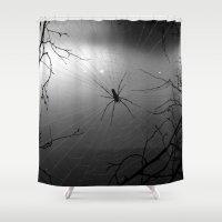 spider Shower Curtains featuring Spider by Gwlad Sas