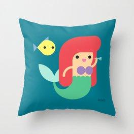 Sirenita Throw Pillow