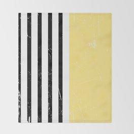 Minimal Pattern | Yellow | Geometric Throw Blanket