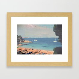 A Private Mallorcan Beach For All Of Us Framed Art Print
