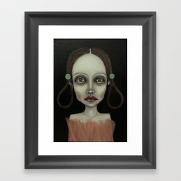 point girl Framed Art Print
