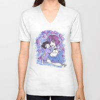mother V-neck T-shirts featuring Mother by T.I.B ARTWORK
