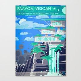 Golden Worlds: Aya Canvas Print