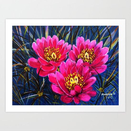 Cactus flowers ( Close up) Art Print