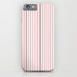 Pink Stripes & Purple iPhone Case