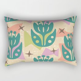 Mid Century Modern Butterfly Garden 203 Rectangular Pillow