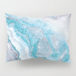 Ocean Foam Mermaid Marble Pillow Sham