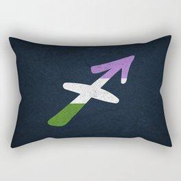 Genderqueer Pride Flag Sagittarius Zodiac Sign Rectangular Pillow