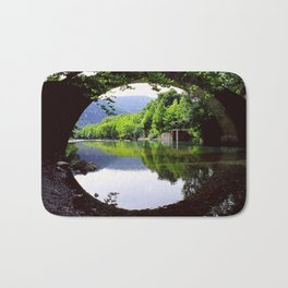 A Bridge Crossing Voidomatis River Bath Mat