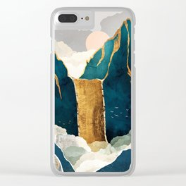 Golden Waterfall Clear iPhone Case