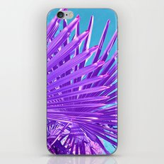 purple palm leaf IV iPhone & iPod Skin