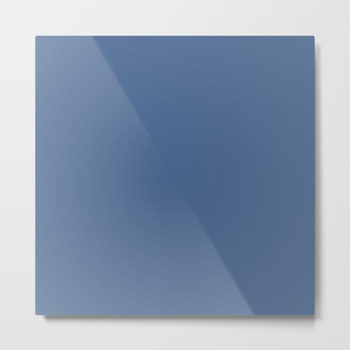 Simply Aegean Blue Metal Print