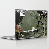 climbing Laptop & iPad Skins featuring Rock Climbing by Tami Cudahy