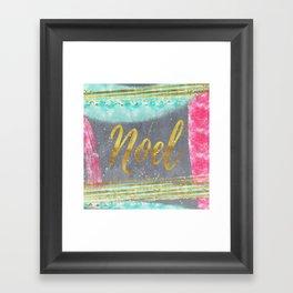 NOEL-Merry modern abstract christmas Framed Art Print
