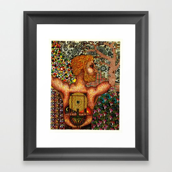 Cycles & Patterns Framed Art Print