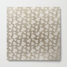 Canvas Design with Heart Shapes and a Great Texture Metal Print