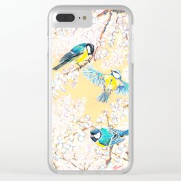 Eurasian tits Clear iPhone Case