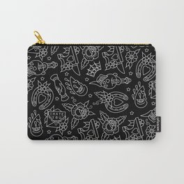 Classic Black Tattoo Pattern  Carry-All Pouch