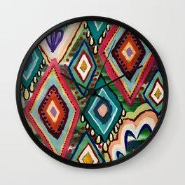 Painted Diamonds Wall Clock