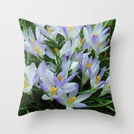 Lavender Crocus Throw Pillow