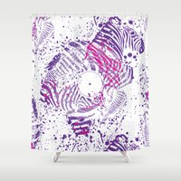 deadmau5 Shower Curtains featuring Zebra Vinyl by Sitchko Igor