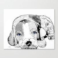 beagle Canvas Prints featuring Beagle by bri.buckley