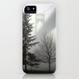 St. Johns Bridge in the fog iPhone Case