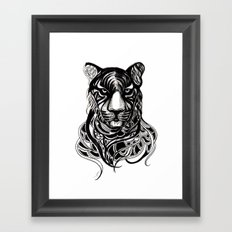 Tiger - Original Drawing  Framed Art Print