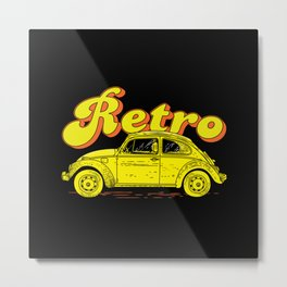 Retro Road Metal Print