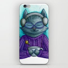 Hot drinks and cool tunes iPhone Skin