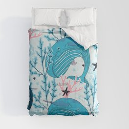 Whales pattern design Comforters