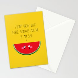 I don't know why Stationery Cards