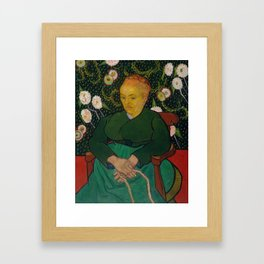 Vincent van Gogh - La Berceuse (Woman Rocking a Cradle; Augustine-Alix Pellicot Roulin, 1851–1930) Framed Art Print