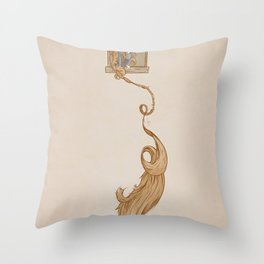 Rapunzel. Throw Pillow