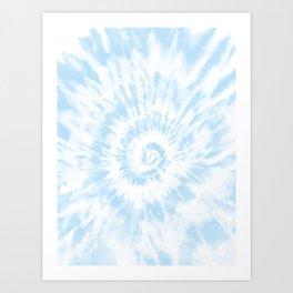 Lighter Ocean Blue Tie Dye Kunstdrucke