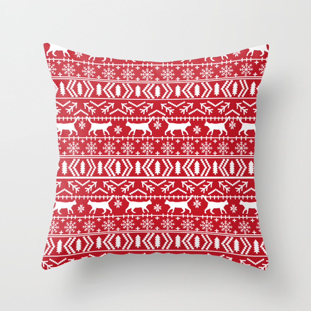 Fairisle Throw Pillows | Society6