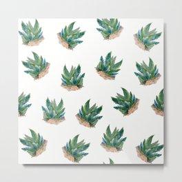 Pattern aloe seamless Metal Print
