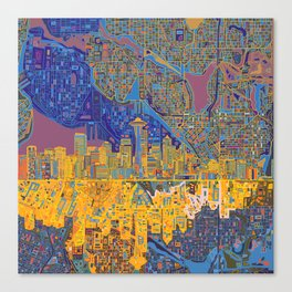 seattle city skyline Canvas Print