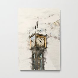 Vancouver Steam Clock Metal Print