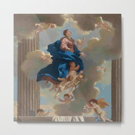 Poussin -the assumption of the virgin Metal Print