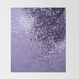 ULTRA VIOLET Glitter Dream #1 #shiny #decor #art #society6 Throw Blanket