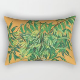 Ash-Tree, green & yellow Rectangular Pillow