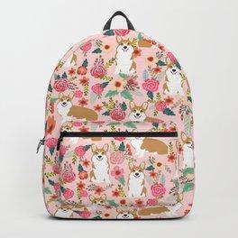 Corgi Florals - vintage corgi and florals gift gifts for dog lovers, corgi clothing, corgi decor, Backpack