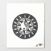 ying yang Canvas Prints featuring Ying Yang by zenart