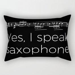 Yes, I speak saxophone Rectangular Pillow