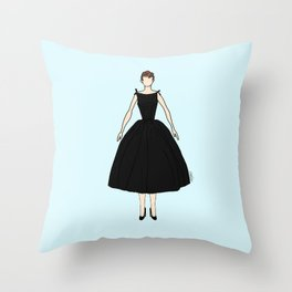 Audrey Hepburn Vintage Retro Fashion 1 Throw Pillow