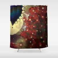 baloon Shower Curtains featuring The Star Voyage by Balloon by ezop