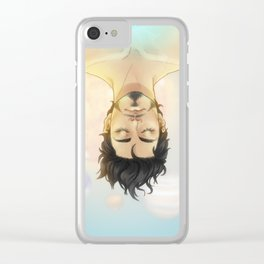 SPACE CHILD Clear iPhone Case