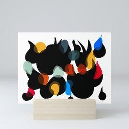 Shapes of life Mini Art Print